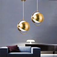 LED Pendant Light Sphere Nordic Post-modern Metal Light Luxury Bar Lamp Creative from Singapore best online lighting shop horizon lights image-1