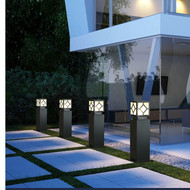 LED Garden Lawn Lamp Delicate Pillar Light Waterproof for Courtyard villa landscape from Singapore best online lighting shop horizon lights