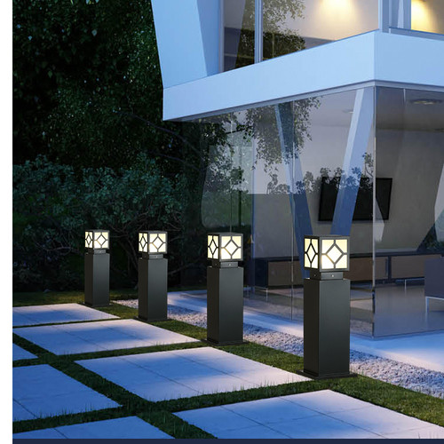 LED Garden Lawn Lamp Delicate Pillar Light Waterproof for Courtyard villa landscape from Singapore best online lighting shop horizon lights image-1