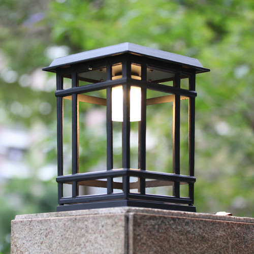 Solar Energy LED Lawn Lamp Post Lamp Waterproof Outdoor Courtyard light from Singapore best online lighting shop horizon lights