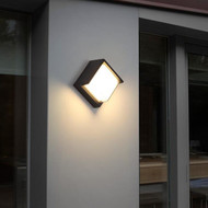 2PCS Waterproof LED Garden Wall Lamp Square Modern Outdoor Courtyard landscape lawn light from Singapore best online lighting shop horizon lights