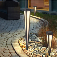 LED Garden Lawn Lamp Triangle Cone Shape Pin lamp Waterproof Simple Solar Energy Courtyard landscape from Singapore best online lighting shop horizon lights