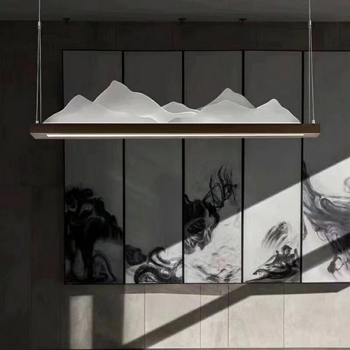 LED Landscape Chandelier Light Metal Acrylic Shade Chinese Modern Style from Singapore best online lighting shop horizon lights image-1