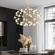 Modern LED Sphere Nest Chandelier Light Gold Stainless Steel Shade Living room Shopping mall shops decor from Singapore best online lighting shop horizon lights