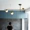 LED Chandelier Light Glass Metal Ball Shade Modern Style from Singapore best online lighting shop horizon lights