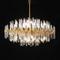 Crystal Tubes Shade Metal Luxurious LED Chandelier Light Post-modern Lobby Decor