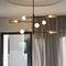 Metal Glass Ball Shade Creative Modern Chandelier LED Light Home