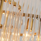 Metal Glass Flower Shape Luxurious Nordic Style LED Chandelier Light Living Room Bedroom