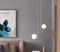 Glass Ball Shade Metal Body Simple LED Chandelier Light Modern Home Decor