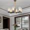 Glass Shade Copper Classic Decorative Light LED Chandelier Light New Chinese Style Living Room Bedroom