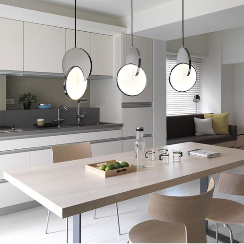 Modern LED Pendant Light Stainless steel Acrylic Personality Dining Room Bedside from Singapore best online lighting shop horizon lights