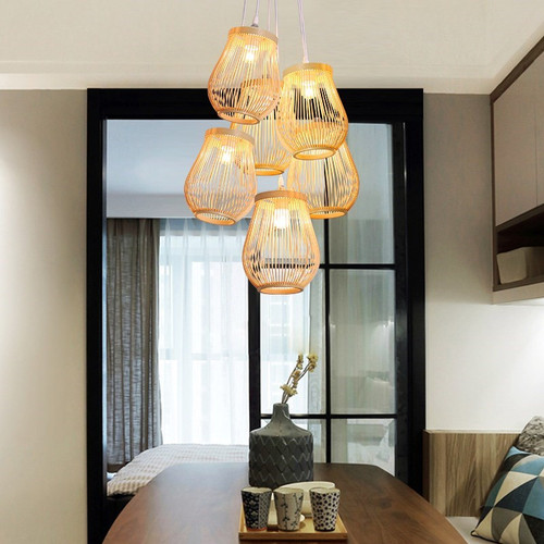 LED Pendant Light Bamboo Lanterns Shade Simple Country Light from Singapore best online lighting shop horizon lights