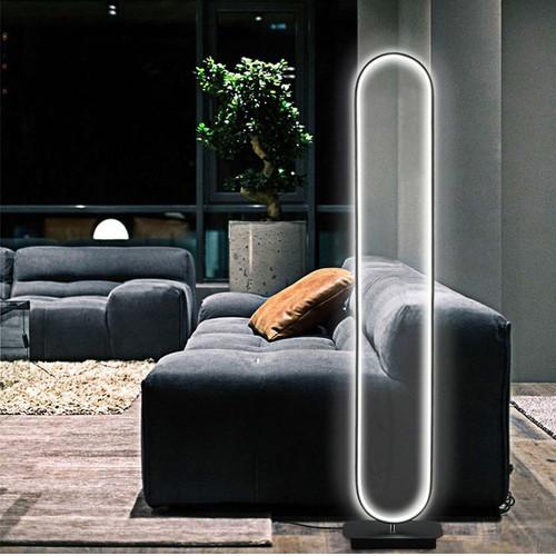 Modern Simple Floor Lamp Aluminum Oval LED Chip Dimmable  Light from Singapore best online lighting shop horizon lights