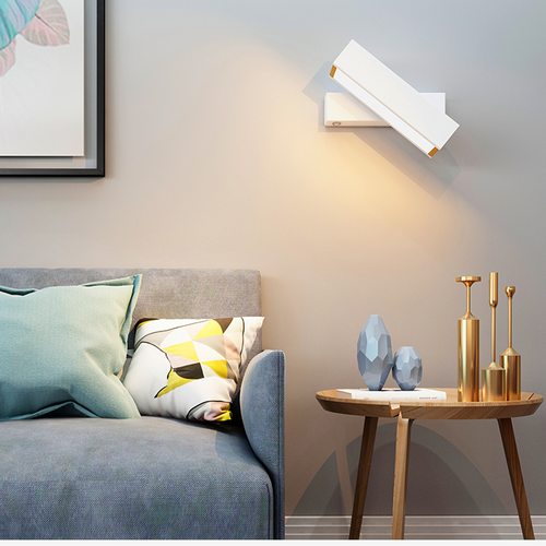 Modern LED Wall Light Metal Wood Rotatable Living Room Bedside Reading Light from Singapore best online lighting shop horizon lights