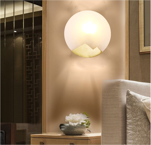 LED Wall Lamp Modern Style Marble Shade for Hotel corridor Shopping mall Decor from Singapore best online lighting shop horizon lights