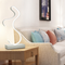 Modern LED Table Lamp Curve Shape Metal Frame Bedroom Living Room Decor from Singapore best online lighting shop horizon lights