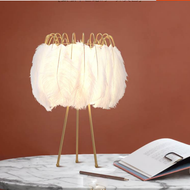 Modern LED Table Lamp Feather Fantastic Metal Bedroom Living Room Decor from Singapore best online lighting shop horizon lights