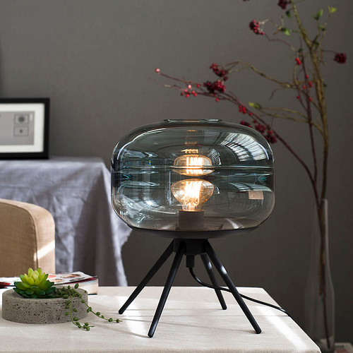 Modern LED Table Lamp Glass lampshade Artistic Decorative Study bedroom Decor from Singapore best online lighting shop horizon lights