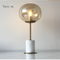 Modern LED Table Lamp Glass Marble Black White Personalized Innovation Study Living Room Decor from Singapore best online lighting shop horizon lights