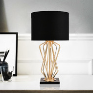 LED Table Lamp Creative Marble Pedestal Bedroom Living Room Decor Modern Simple