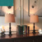 Rockefeller Desk Lamp, Fabric E27 LED Table Lamp for Contemporary and Traditional (off)
