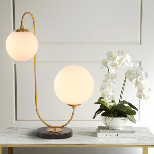 Modern LED Table Lamp Glass Ball Shade Bedroom Dining Room Decor from Singapore best online lighting shop horizon lights
