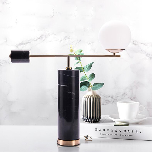 Modern Simple LED Table Lamp Marble Lamp Pole Personalized Style for Bedroom Dining room Decor from Singapore best online lighting shop horizon lights