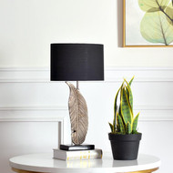 Modern Table Lamp Fabric Shade Feather Lamp Pole Light Dining Room Decor from Singapore best online lighting shop horizon lights