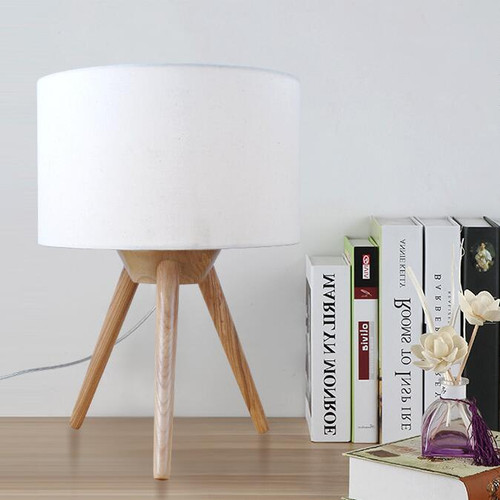 Modern Simple Table Lamp Fabric Lampshade LED E27 Lights from Singapore best online lighting shop horizon lights