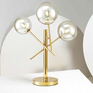 Modern LED Table Lamp Desk Lamp Light Shade Three Glass Ball for Bedroom Living Room Floor Bedside Gold Designs from Singapore best online lighting shop horizon lights