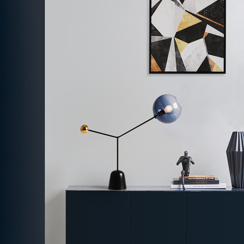 Modern Simple Table Lamp Marble Artistic LED lights for Bedroom Study from Singapore best online lighting shop horizon lights