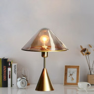 Post Modern Mushroom Table Lamps Glass Triangle Shade Bedroom Living Room Decor from Singapore best online lighting shop horizon lights