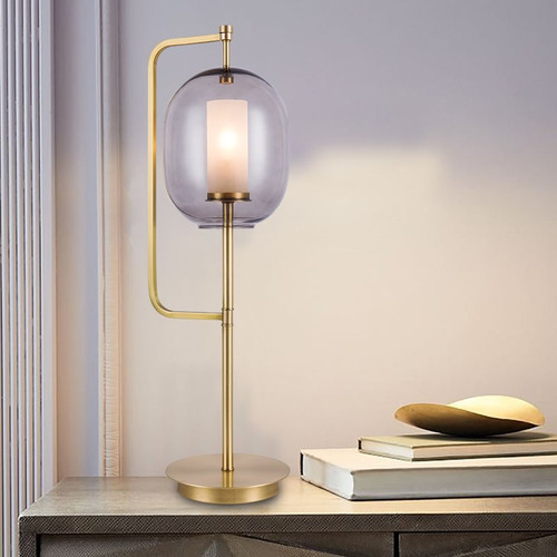 Nordic Retro Style LED Table Lamp Glass Ball Bedroom Bedside Lamp Foyer Decorative Lights from Singapore best online lighting shop horizon lights