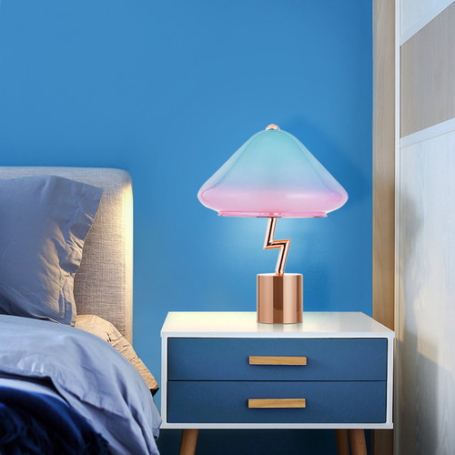 LED Table Lamp Jellyfish Shaped Lampshade Creative Modern Light from Singapore best online lighting shop horizon lights