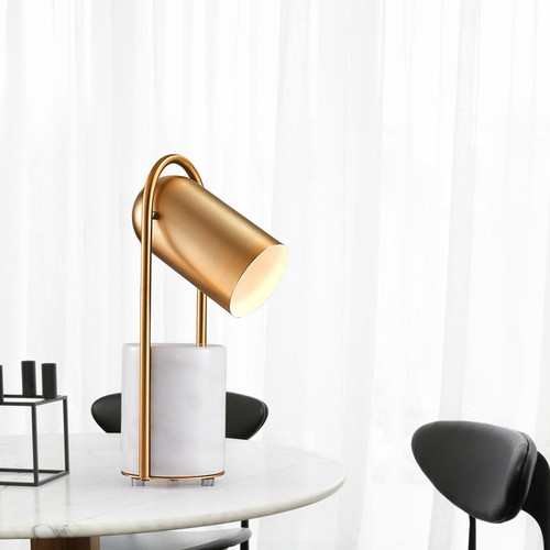 Modern LED Table Lamp Marble Lamp Base Spot Light Bedroom Living Room Decor from Singapore best online lighting shop horizon lights