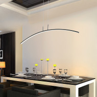 Modern Simple LED Pendant Light Artistry Streamlined design for Bar Restaurants Workshop Decor