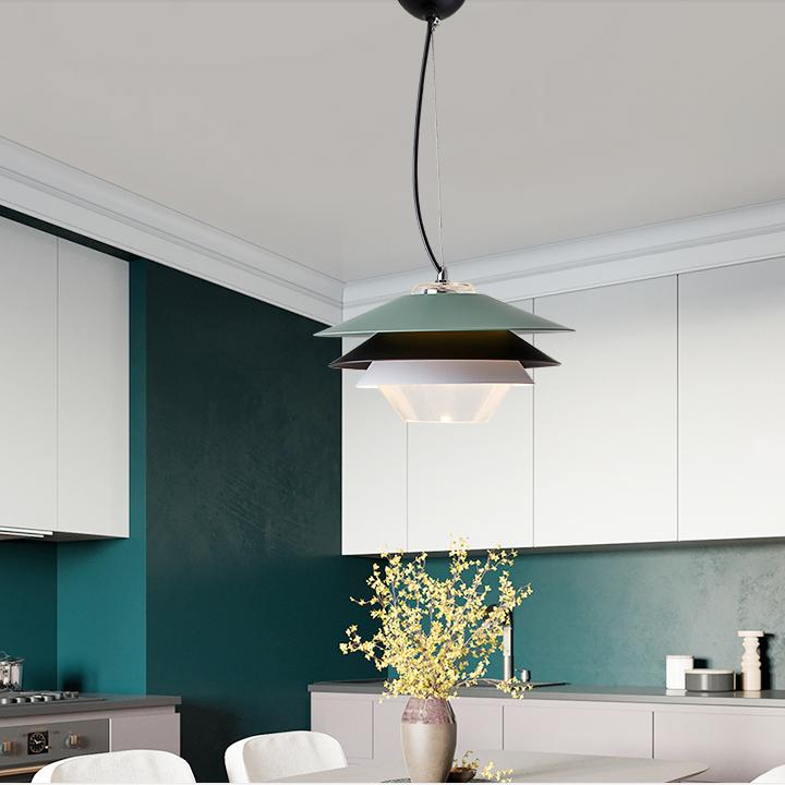 Modern Led Pendant Light Metal Pvc Lamp For Living Room Bedroom Decor