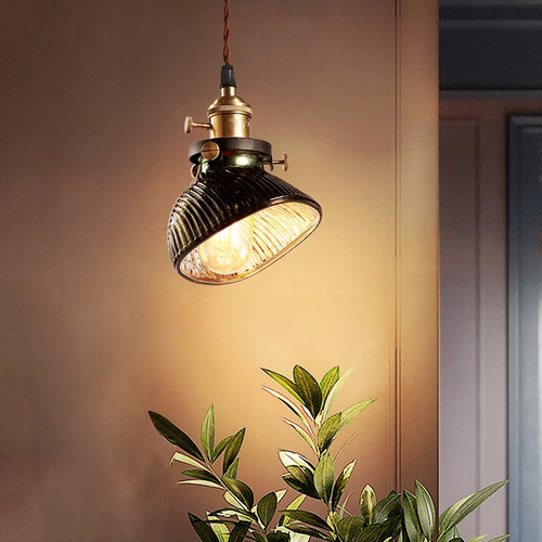 LED Pendant Single Retro Green Glass Light for Coffee Restaurants Workshop Decor from Singapore best online lighting shop horizon lights