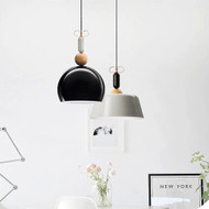 Modern LED Wood Pendant Light for Coffee Restaurants Workshop Decor from Singapore best online lighting shop horizon lights