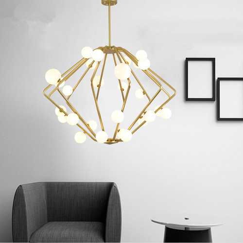 Modern LED Pendant Light Creative Cage Bubble Ball Light Villa Living Room Hotel Decor from Singapore best online lighting shop horizon lights