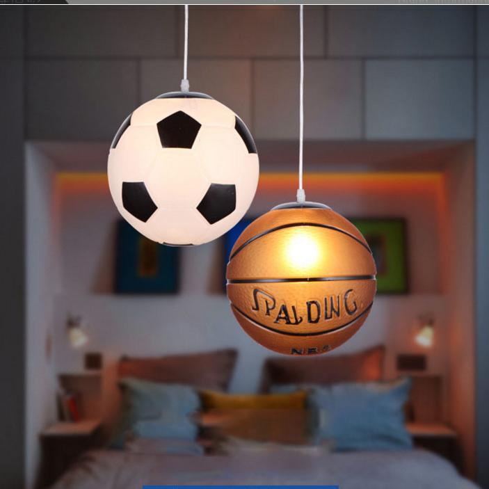 Modern Led Pendant Light Basketball Football Children Light Kids Bedroom Study