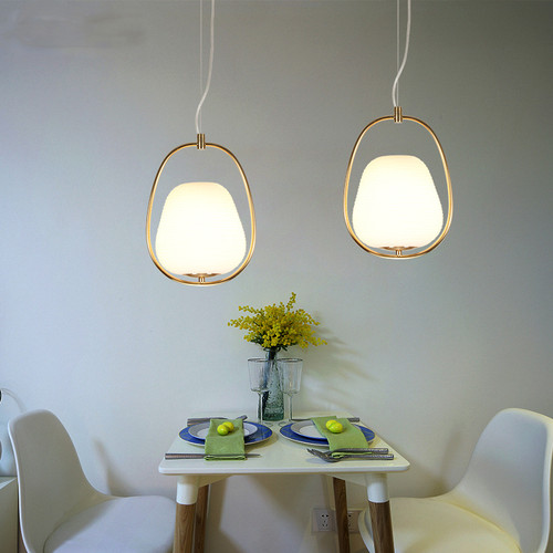 LED Pendant Light Glass Ball Light Modern Creativity Metal Frame Dining room from Singapore best online lighting shop horizon lights