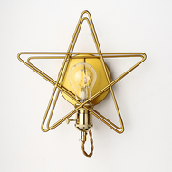 Modern LED Wall Lamp Star Shaped Artistry Decorative Living Room Decor