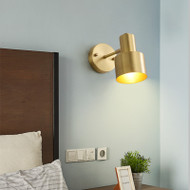 American Style LED Wall Lamp Copper Simple Design Living Room Bedroom