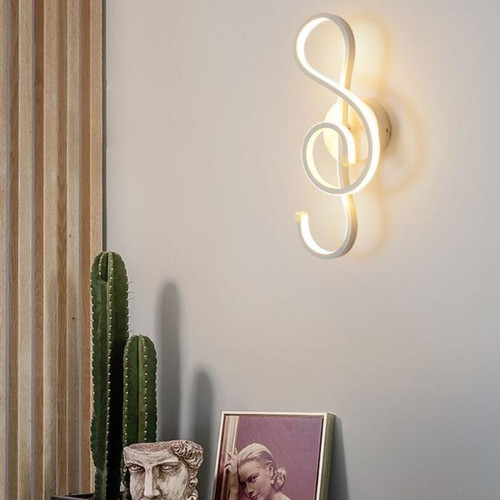 Modern Simple LED Wall Lamp Creative Metal G Clef  Lamp Living Room Bedroom Decor from Singapore best online lighting shop horizon lights