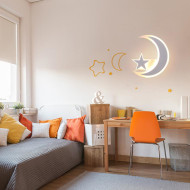 Modern Simple LED Wall Cute Acrylic Moon Snow Lamp Children's Bedroom Decor from Singapore best online lighting shop horizon lights