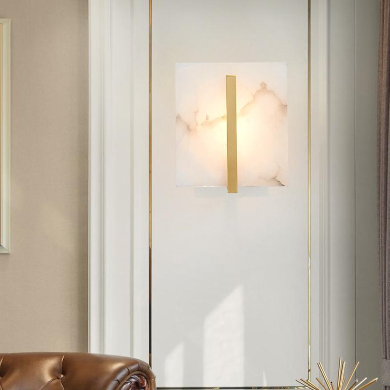 American Marble Copper Modern LED Wall Lamp Luxury Design Living room  Corridor