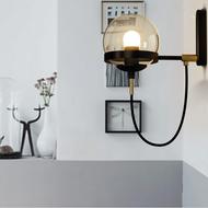 2PCS Retro American LED Glass Lamp shade Copper Wall Lamp Beside Corridor Study