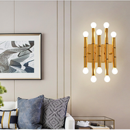 Nordic Style LED Wall Lamp Gold Bamboo Shape Lamp Living Room Decor from Singapore best online lighting shop horizon lights