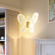 Modern LED Wall Lamp Glass Butterfly Lamp Corridor Bedroom Beside Lamp from Singapore best online lighting shop horizon lights